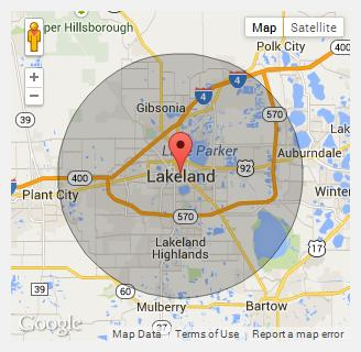 Lakeland Florida Map.Champion Portable Toilets In Lakeland Fl Call 888 263 8822